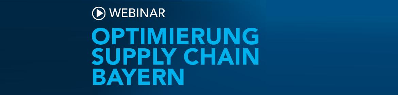 Webinar Optimierung Supply Chain Bayern