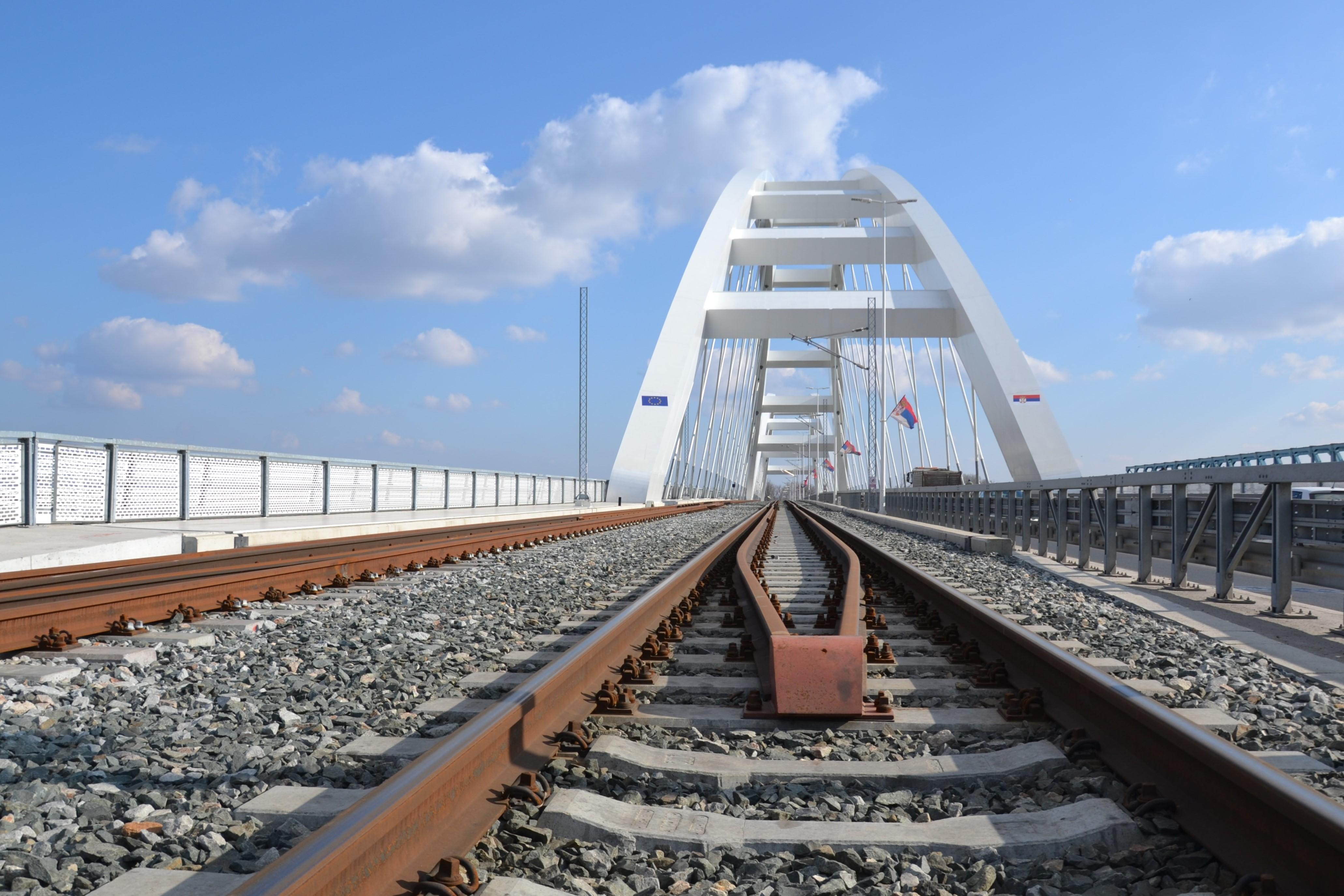 20190215-Brug Novi Sad (3), Servië, rail, railinfrastructuur, spoorlijn