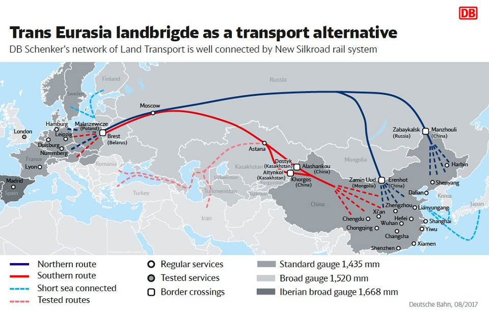 Trans-Eurasia-Landbridge, nieuwe zijderoute