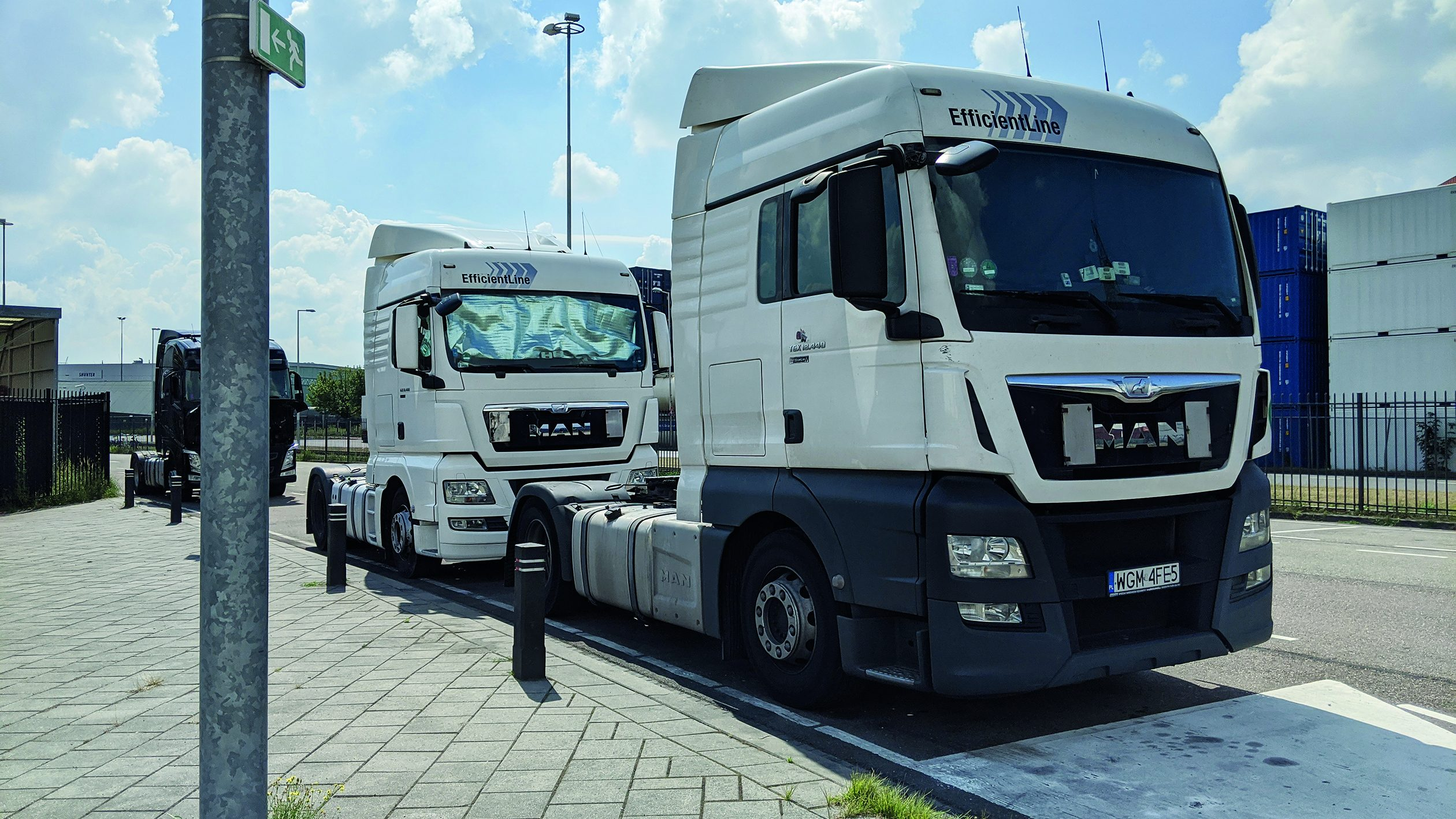 truckers, vrachtwagen, Pools